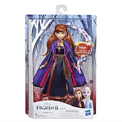 Disney Frozen 2 - Anna Cantante (Bambola Elettronica con Abito Viola, Ispirato al Film Frozen 2)