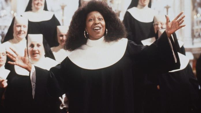 Primo piano di Whoopi Goldberg in Sister Act