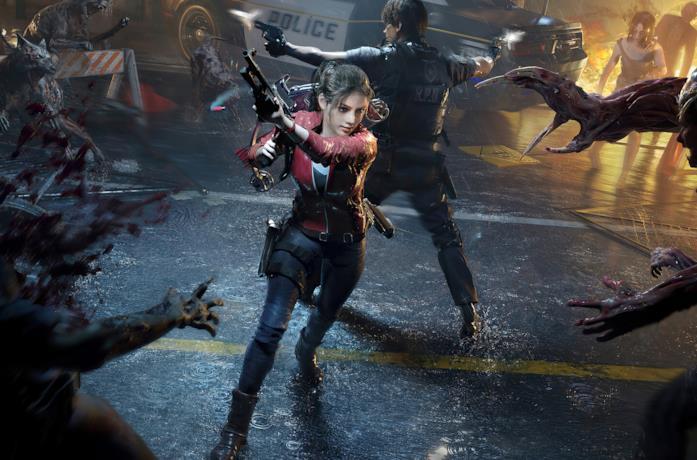 Leon e Claire nel remake di Resident Evil 2