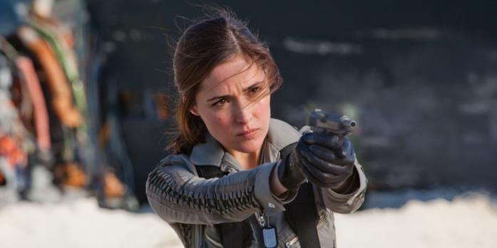 Rose Byrne in una scena di X-Men - L'inizio