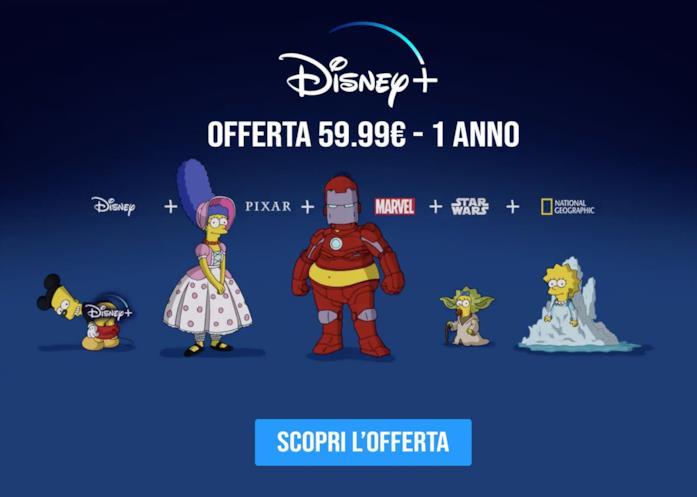 Offerta pre sales Disney+ a 59.99€ anno