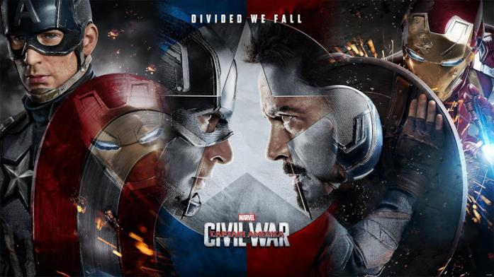 Capitan America e Tony Stark in Civil War