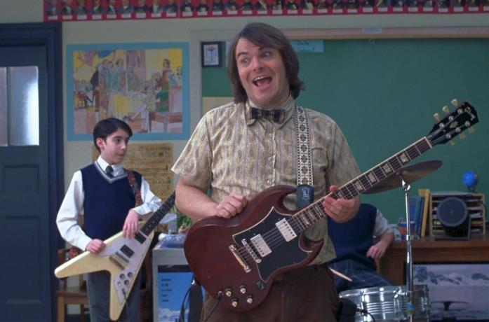 Una scena di School of rock