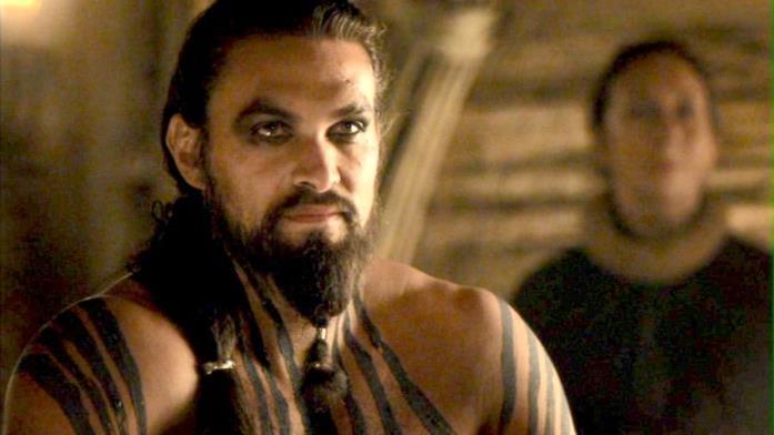 Jason Momoa nei panni di Drogo in Game of Thrones