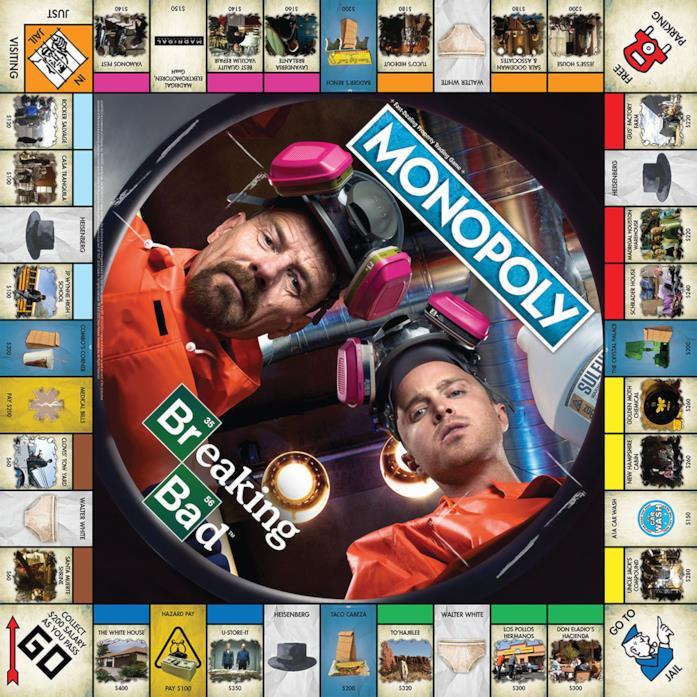 Il tabellone del Monopoly di Breaking Bad