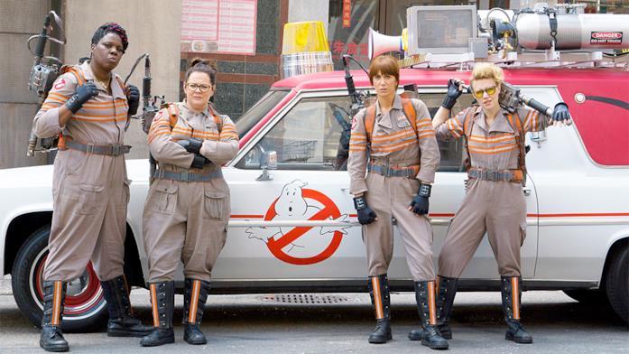 Le Ghostbusters Melissa McCarthy, Kristen Wiig, Kate McKinnon e Leslie Jones.