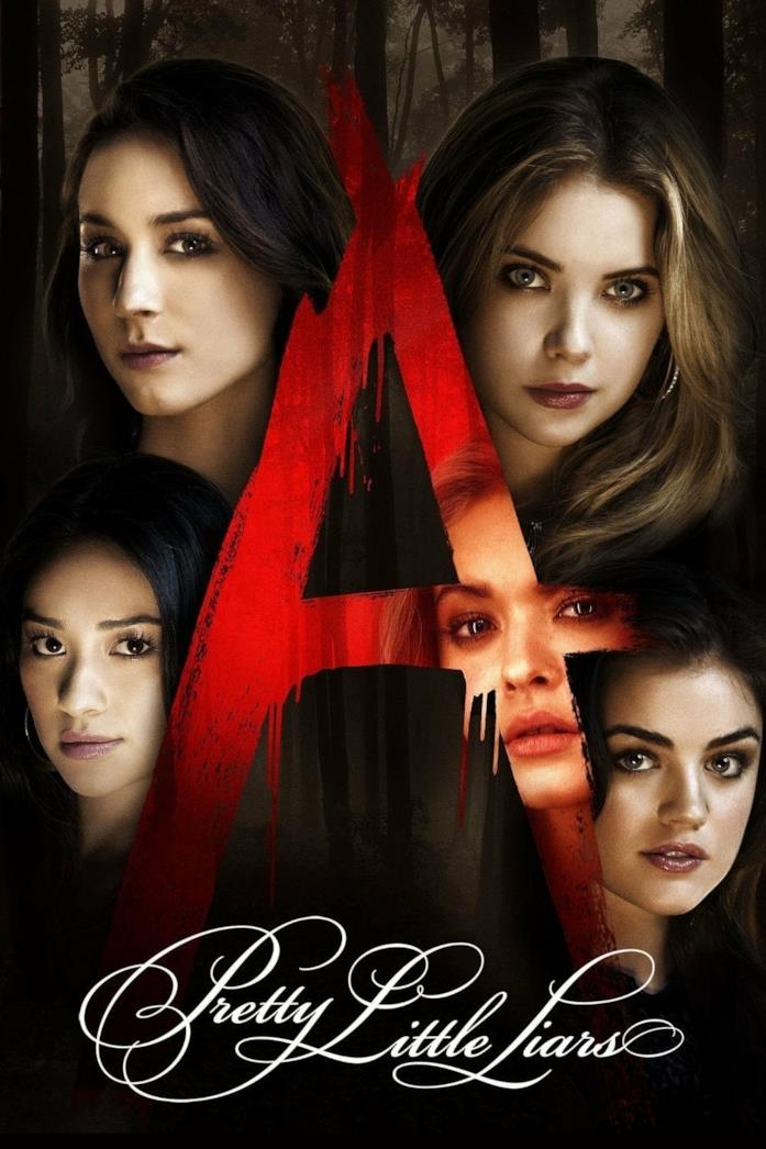 Primo piano del cast di Pretty Little Liars nel poster della serie