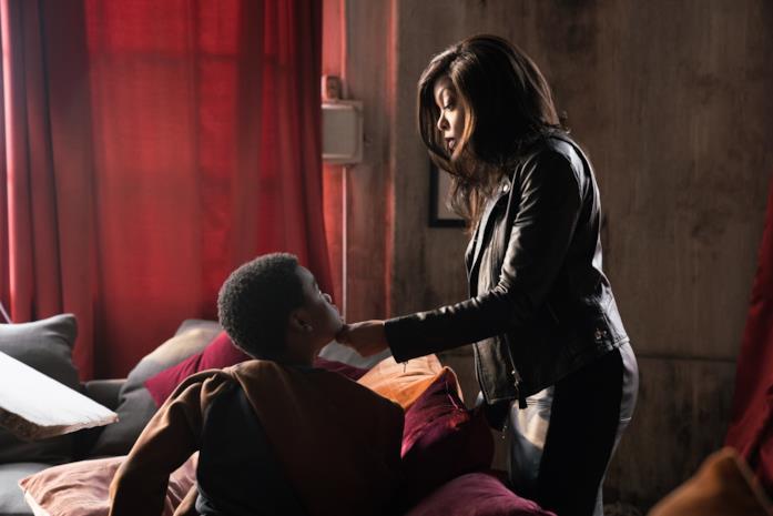 Jahi Di'Allo Winston e Taraji P. Henson in una scena del film Proud Mary