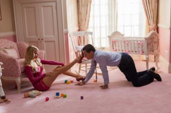 Margot Robbie, Leonardo DiCaprio e Martin Scorsese sul set di The Wolf of Wall Street
