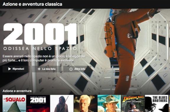 """La sottocategoria """"Azione e avventura classica"""" su Netflix"""