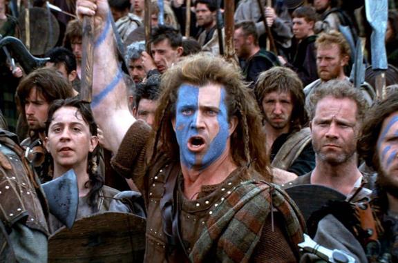 Mel Gibson in Bravehearth - Cuore impavido