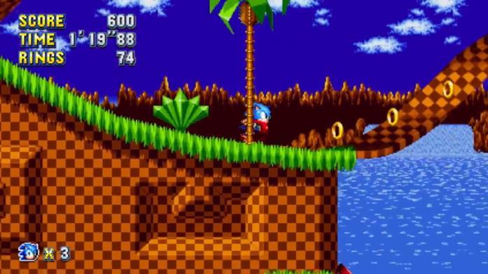 Il primo livello di Sonic, la Green HIll Zone