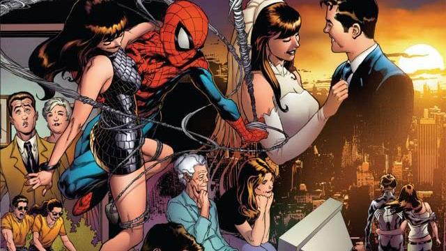 Dettaglio della cover di Spider-Man: One More Day