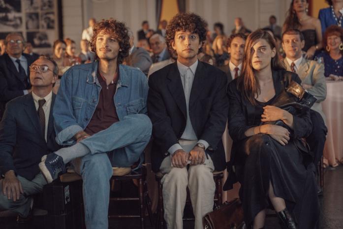 I finalisti del premio Solinas seduti in attesa della proclamazione del vincitore
