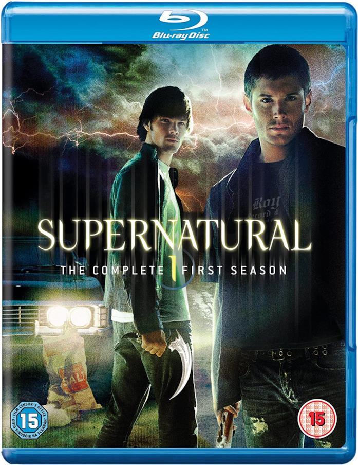 Jared Padalecki e Jensen Ackles nella copertina del cofanetto Blu-ray di Supernatural