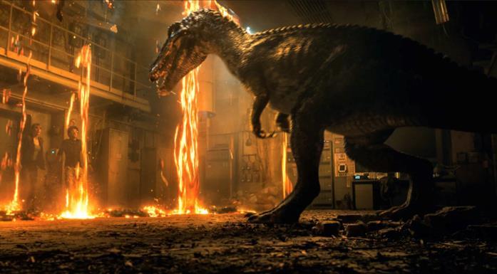 Il Baryonyx in una scena del nuovo Jurassic World