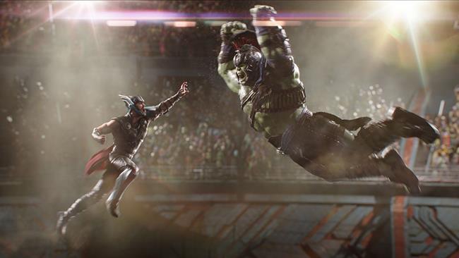Thor vs Hulk in Thor: Ragnarok
