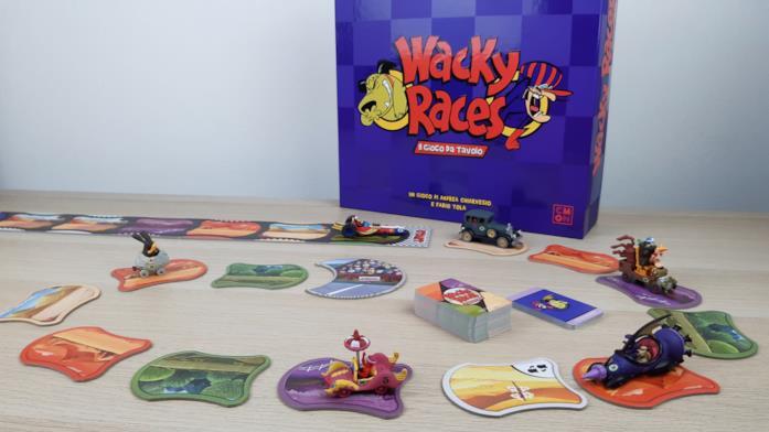 Il tabellone del gioco da tavolo delle Wacky Races