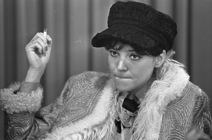 Anna Karina in una foto d'archivio