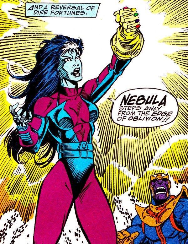 Nebula nei fumetti usa il Guanto dell'Infinito