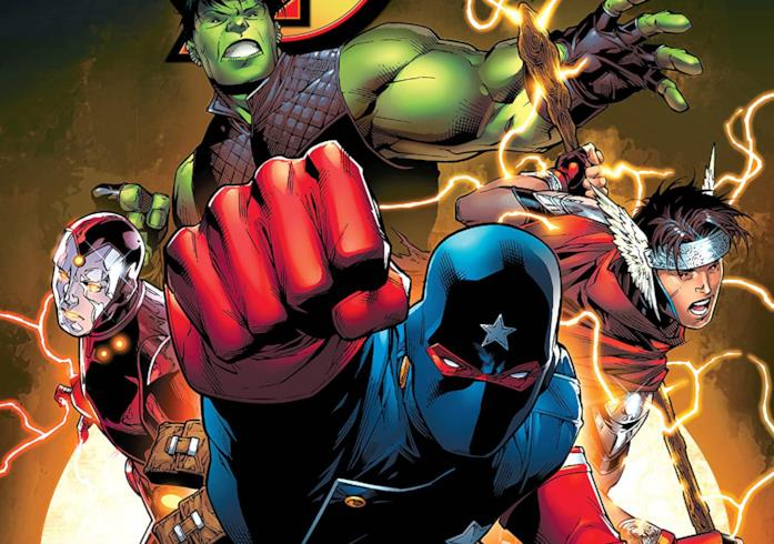 Dettaglio della cover di Young Avengers by Allen Heinberg and Jim Cheung: The Complete Collection