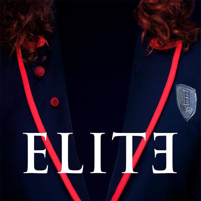 Una divisa dell'istituto spagnolo e il logo della serie TV Élite