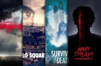 I poster di Unsolved Mysteries, Lo squartatore, Surviving Death, Night Stalker