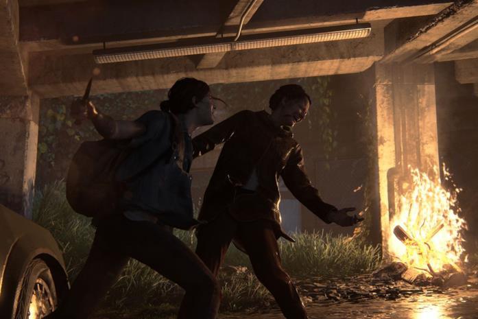 Ellie uccide un nemico in The Last of Us - Part II