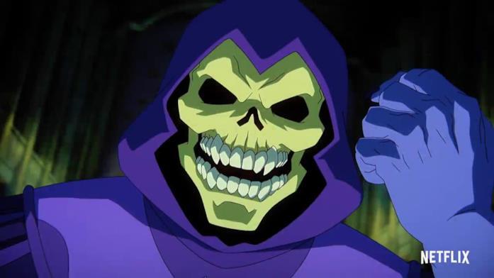 Un'immagine di Skeletor tratta dal trailer di Masters of the Universe: Revelation