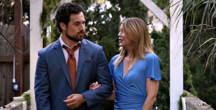 Andrew e Meredith insieme in una scena dal finale di Grey's Anatomy 14