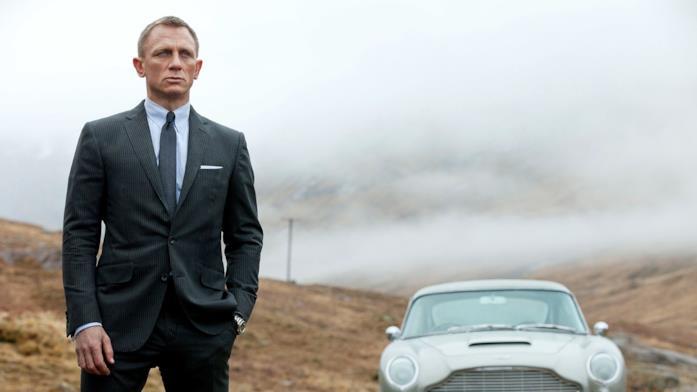 James Bond in una scena di un film