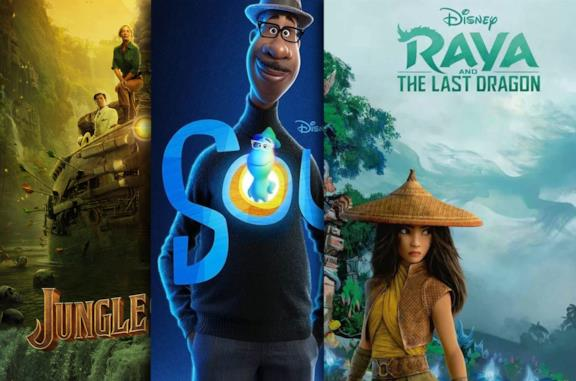 I poster di Jungle Cruise, Soul, Raya and the Last Dragon