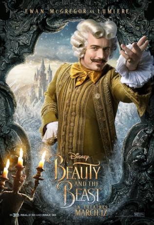 La Bella e la Bestia: Ewan McGregor nel poster di Lumière