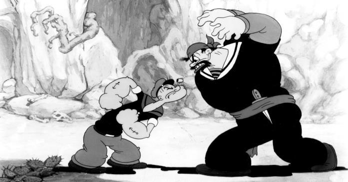 Il marinaio Popeye si appresta ad affrontare il suo nemico Bluto
