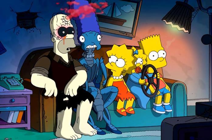 La famiglia Simpson, composta da Homer, Maggie, Marge, Bart e Lisa
