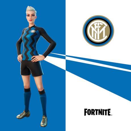 Immagine promozionale della skin a tema Inter di Fortnite