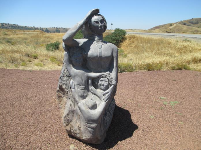 Statua Waiting for Eli sulle alture del Golan