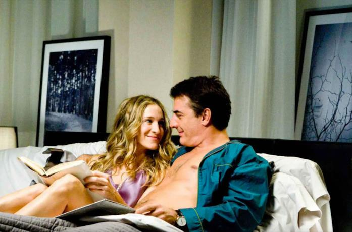 Una scena di Sex and the City con Carrie e Mr Big