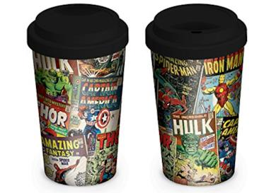 Marvel Tazza da Viaggio Travel Mug, Ceramica, Multicolore, 18 x 1 x 1 cm