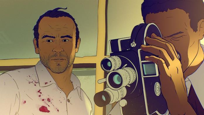 Ricardo in una scena del film