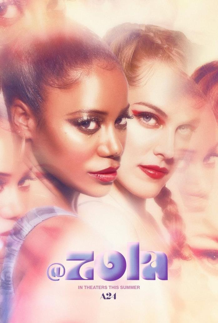 Taylour Paige e Riley Keough nel poster del film Zola