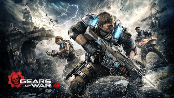 La copertina ufficiale di Gears of War 4