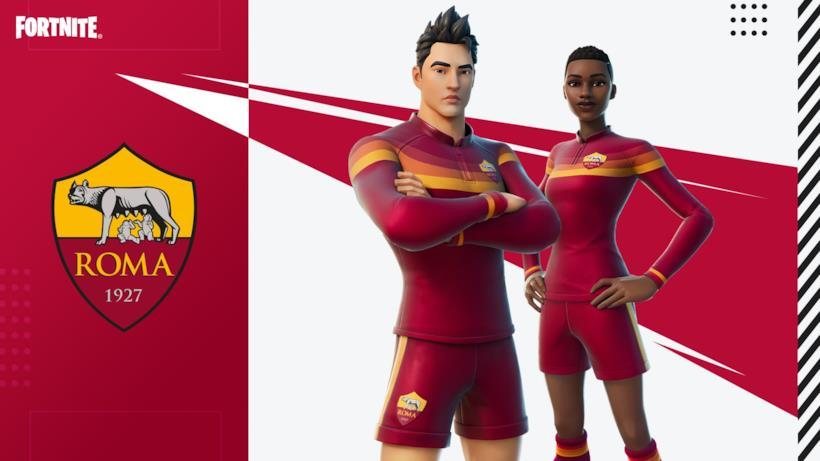 Immagine promozionale della skin a tema AS Roma di Fortnite