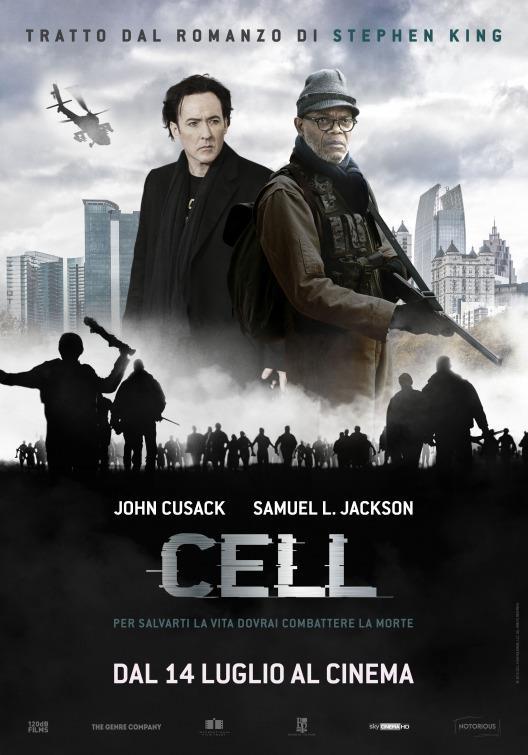 Il poster ufficiale di Cell, dal 14 luglio al cinema