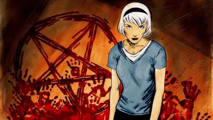 Sabrina nella nuova versione dal fumetto Chilling Adventures of Sabrina