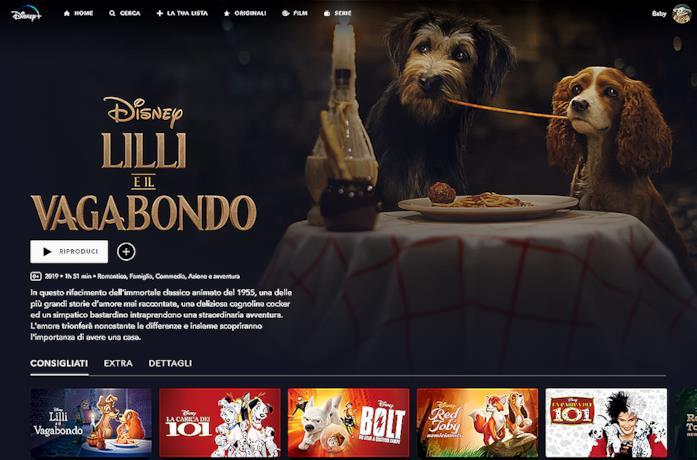 Lilli e il Vagabondo su Disney+ una delle nuove produzione per la piattaforma di streaming Disney