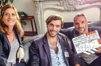 Gian Marco Tavani con Philipe Bas sul set di Profiling