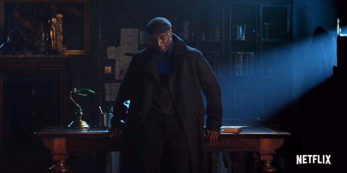 Omar Sy in una scena del trailer della serie TV Lupin