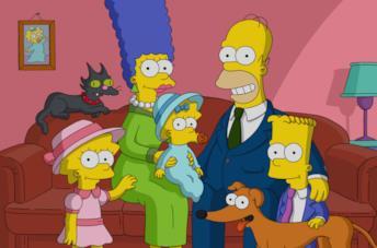 La famiglia Simpson al completo
