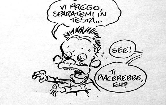 la vignetta di leo ortolani per il rinnovo di the walking dead